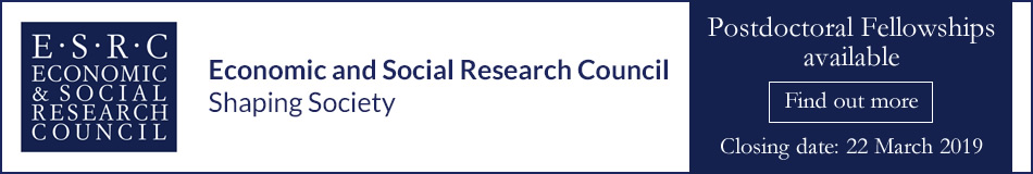 Economic and Social Research Council Featured Post Docs